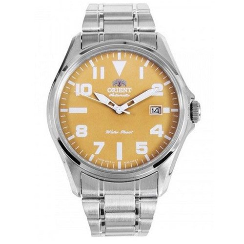 オリエント 時計 ウィングマン ER2D006N オートマチック ブラウンダイアル×ステンレベルト