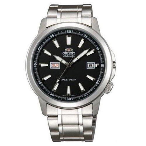 オリエント 時計 スティングレイ EM7K004B オートマチック デイデイトカレンダー ブラックダイアル×ステンレスベルト