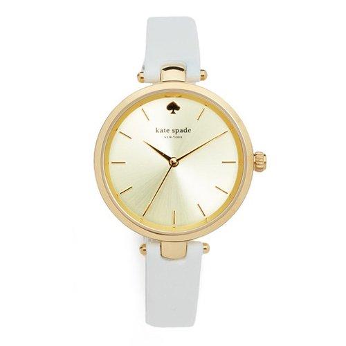 ケイトスペード 時計 KSW1117 メトロ ゴールド×ホワイトレザーベルト