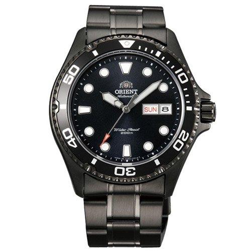 オリエント 時計 レイII AA02003B オートマチック ダイバーズウォッチ ブラックダイアル×ブラックステンレスベルト