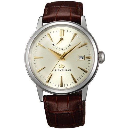 オリエント 時計 クラシック EL05005S オートマチック シルバーダイアル×ブラウンレザーベルト