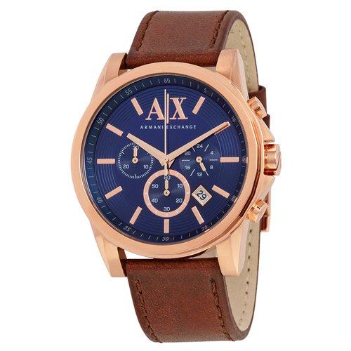 アルマーニエクスチェンジ/Armani Exchange/時計/メンズ/AX2508/ネイビー×ブラウンレザー