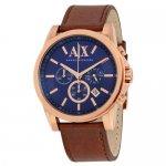 アルマーニエクスチェンジ 腕時計 メンズ AX2508 ネイビー×ブラウンレザー