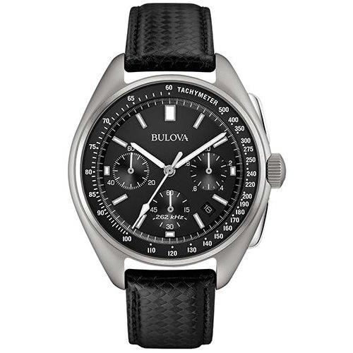 ブローバ 時計 ムーンウォッチ 96B251 ブラック×ブラックレザーベルト