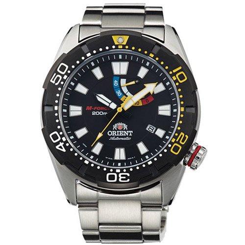 オリエント 時計 M-フォース EL0A001B オートマチック ダイバーズウォッチ ブラックダイアル×ステンレスベルト