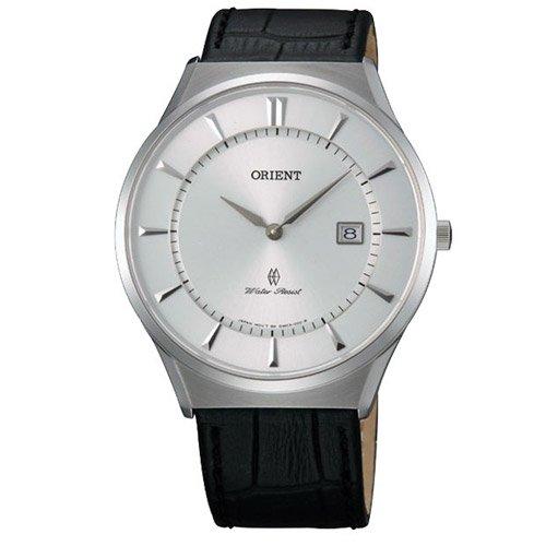 オリエント 時計 パーマー GW03007W シルバーダイアル×ブラックレザーベルト