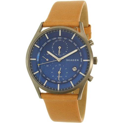 スカーゲン 時計 メンズ SKW6285 ブルー×ブラウンレザーベルト