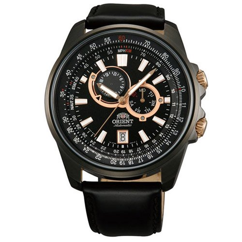 オリエント 時計 アペックス ET0Q002B オートマチック ブラックダイアル×ブラックレザーベルト