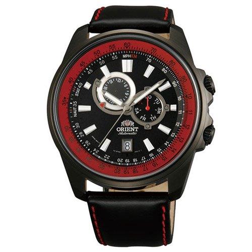 オリエント 時計 アペックス ET0Q001B オートマチック ブラックダイアル×ブラックレザーベルト