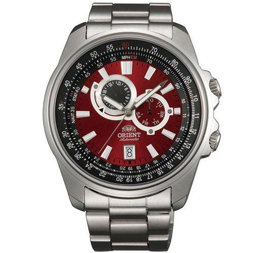 オリエント 時計 アペックス ET0Q003H オートマチック レッドダイアル×ステンレスベルト