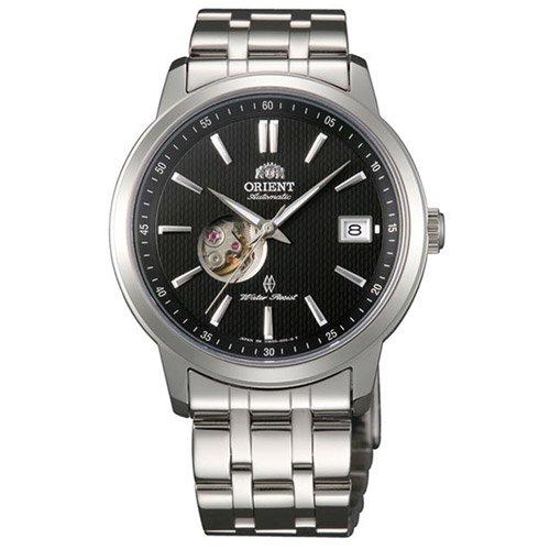 オリエント 時計 モデルノ DW00002B オープンハート ブラックダイアル×ステンレスベルト