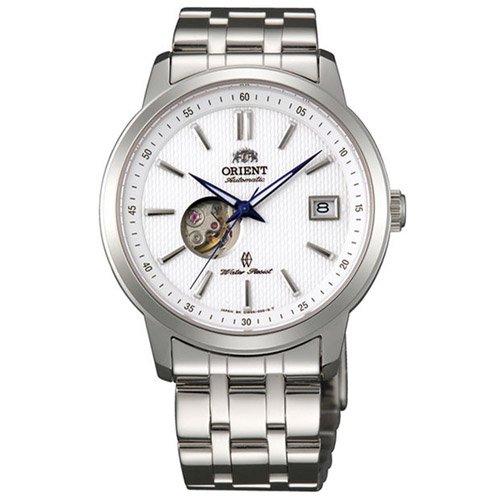 オリエント 時計 モデルノ DW00003W オープンハート ホワイトダイアル×ステンレスベルト