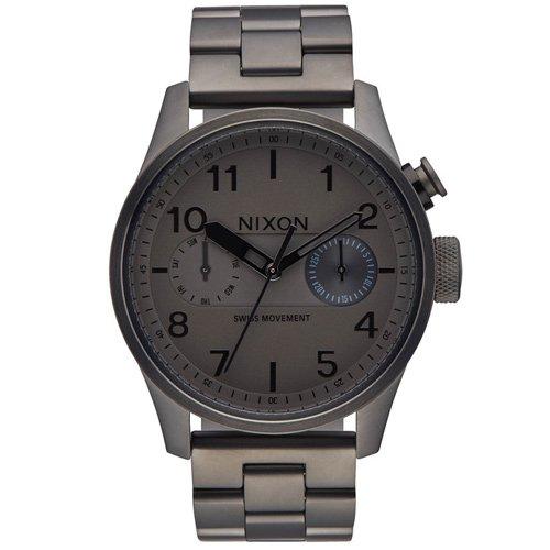 ニクソン 時計 サファリデラックス A976-632 デイデイトカレンダー ガンメタルダイアル×ガンメタルステンレスベルト