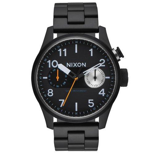 ニクソン 時計 サファリデラックス A976-001 デイデイトカレンダー ブラックダイアル×ブラックステンレスベルト