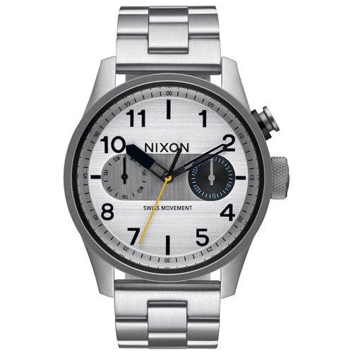 ニクソン 時計 サファリデラックス A976-130 デイデイトカレンダー シルバーダイアル×ステンレスベルト