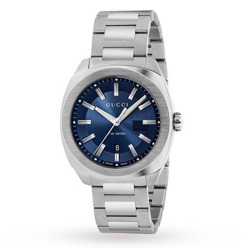 グッチ 時計 GG2570 YA142303 ミディアム ブルーダイアル×ステンレスベルト