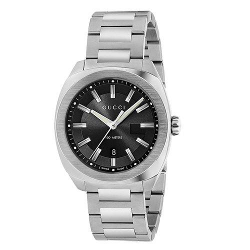 グッチ 時計 GG2570 YA142301 ミディアム ブラックダイアル×ステンレスベルト