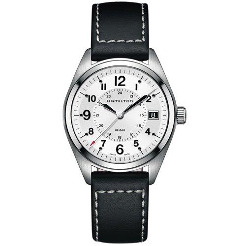 ハミルトン 時計 カーキ フィールド H68551753 クォーツ シルバーダイアル×ブラックレザーベルト