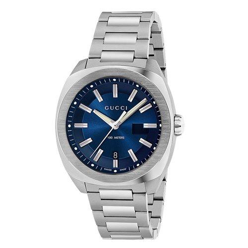 グッチ 時計 GG2570 YA142205 ブルーダイアル×ステンレスベルト