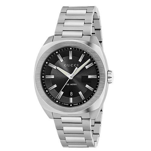 グッチ 時計 GG2570 YA142201 ブラックダイアル×ステンレスベルト