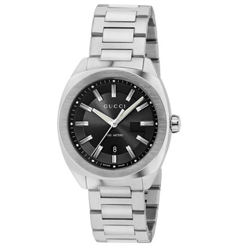 グッチ 時計 GG2570 YA142401 ブラックダイアル×ステンレスベルト