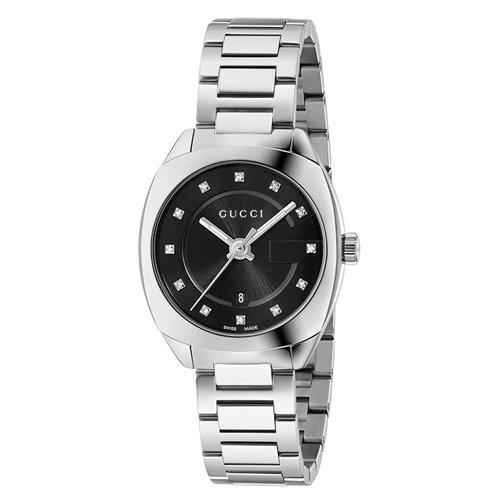グッチ/Gucci/時計/GG2570/YA142503/スモール/ブラックダイアル×ステンレスベルト
