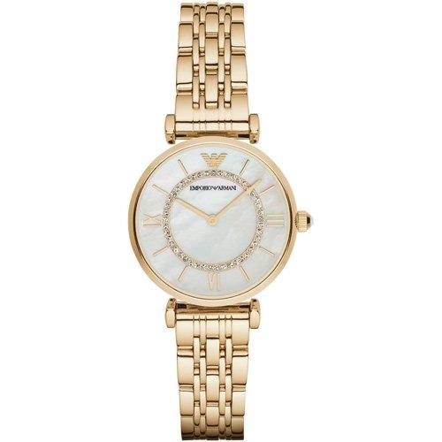 エンポリオアルマーニ 時計 レディース ジャンニ AR1907 マザーオブパールダイアル×ゴールドステンレスベルト