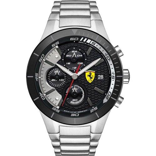 スクーデリア・フェラーリ/Scuderia Ferrari/時計/RED REV EVO/0830263/ブラックダイアル×ステンレスベルト