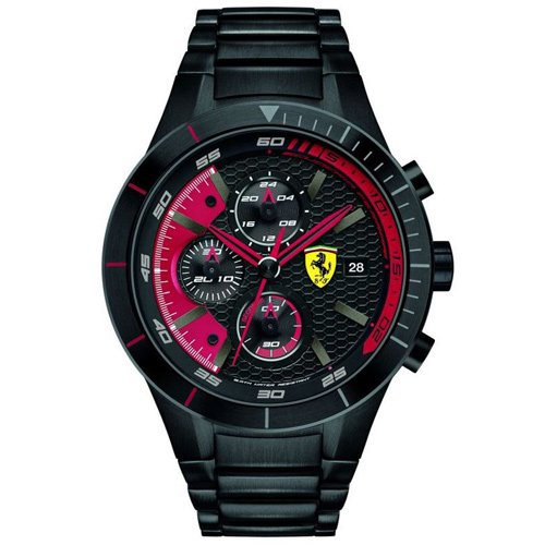スクーデリア・フェラーリ/Scuderia Ferrari/時計/RED REV EVO/0830264/ブラックダイアル×ブラックステンレスベルト