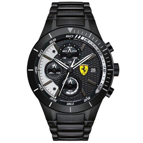 スクーデリア・フェラーリ/Scuderia Ferrari/時計/RED REV EVO/0830267/ブラックダイアル×ブラックステンレスベルト