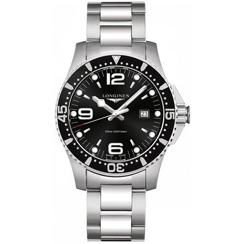 new arrival bc615 eb18d ロンジン/Longines/時計/ハイドロコンクエスト/L3.840.4.56.6/ブラックダイアル/ステンレスベルト-  腕時計の通販ならワールドウォッチショップ