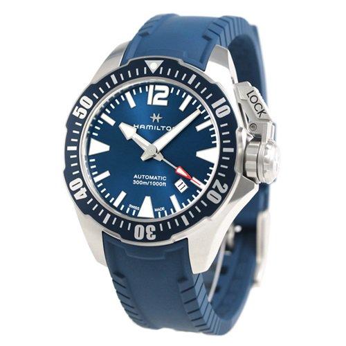 ハミルトン/Hamilton/腕時計/カーキネイビー/オープンウォーター/H77705345/300m防水/ブルーラバー