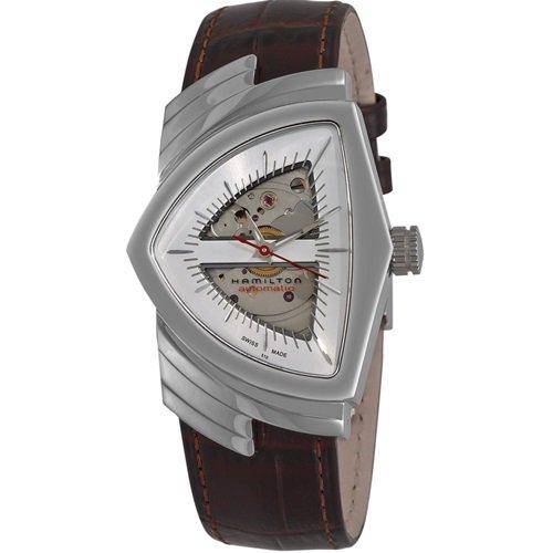 ハミルトン/Hamilton/腕時計/ベンチュラ/Ventura/スケルトン/ユニセックス/H24515551/シルバー×ブラウンレ…