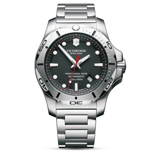 ビクトリノックス/VICTORINOX/腕時計/INOX/プロフェッショナルダイバー/241781/200m防水/ブラック×シルバー