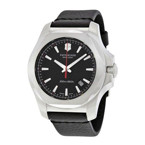 ビクトリノックススイスアーミー/VICTORINOX SWISS ARMY/腕時計/INOX/241737/200m防水/ブラック×ブラックレザー