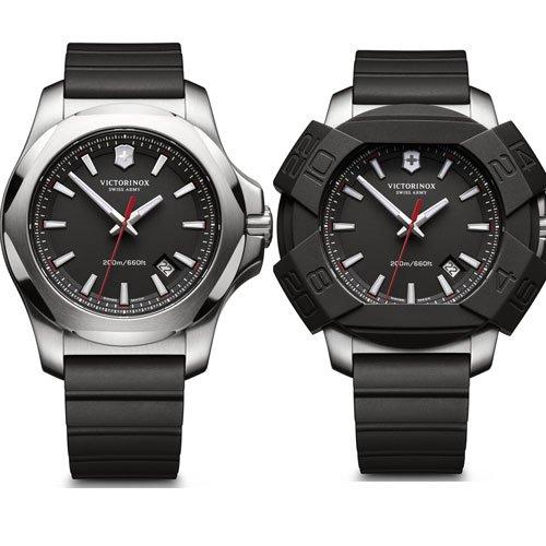 ビクトリノックススイスアーミー/VICTORINOX SWISS ARMY/腕時計/INOX/241682.1/200m防水/ブラック×ブラックラバー
