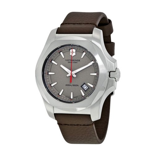 ビクトリノックススイスアーミー/VICTORINOX SWISS ARMY/腕時計/INOX/241738/200m防水/グレーダイヤル×ブラウンレザー