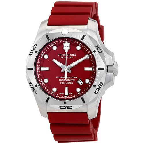 ビクトリノックス/VICTORINOX/腕時計/INOX/プロフェッショナルダイバー/241736/200m防水/レッド×レッドラバー