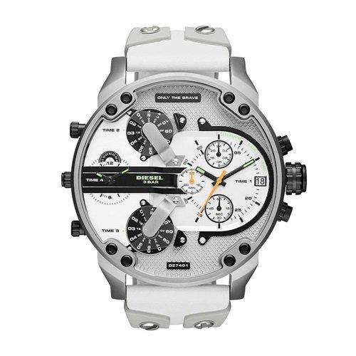 ディーゼル/Diesel/時計/ミスターダディー/DZ7401/ホワイトダイアル×ホワイトインデックス×ホワイトレザー