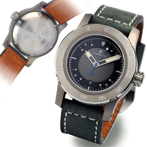 スタインハート/Steinhart/腕時計/アポロン/Apollon/メンズ/ダイバーズ/スイスメイド/ブラック&グレー×ブラック