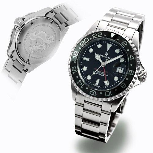 スタインハート/Steinhart/腕時計/オーシャン/ Ocean 1 GMT Black Ceramic/ダイバーズウォッチ/メンズ/スイスメイド