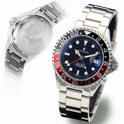 スタインハート/Steinhart/腕時計/オーシャン/Ocean 1 GMT Black/Red/ダイバーズウォッチ/メンズ/スイスメイド