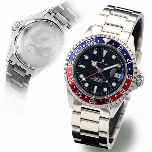 スタインハート/Steinhart/腕時計/オーシャン/Ocean 1 GMT Blue/Red/ダイバーズウォッチ/メンズ/スイスメイド