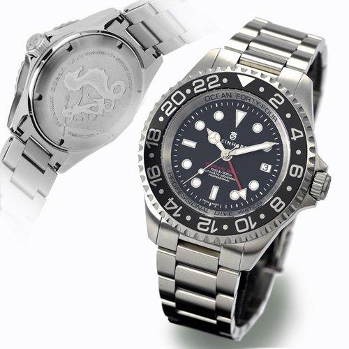 スタインハート/Steinhart/腕時計/オーシャン/Ocean Forty Four GMT Black Ceramic/ダイバーズウォッチ/メンズ/スイスメイド