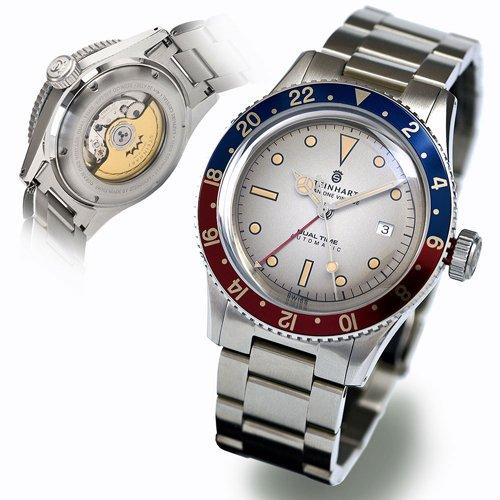 スタインハート/Steinhart/腕時計/オーシャン/Ocean One Vintage Dual Time Premium/ダイバーズウォッチ/メンズ/スイスメイド