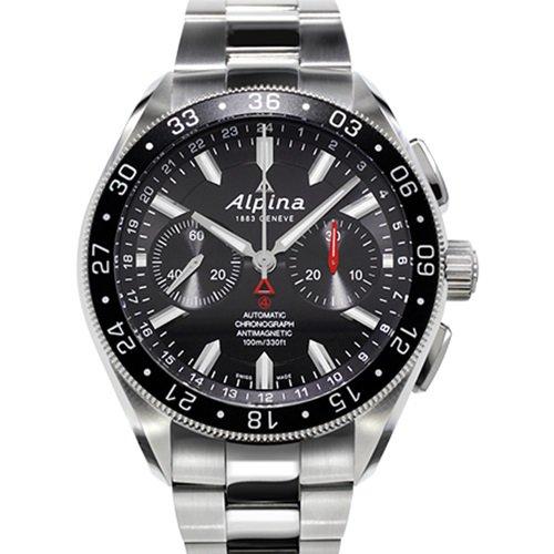 アルピナ/Alpina/腕時計/Alpiner 4コレクション/メンズ/スイスメイド/AL-860B5AQ6B/クロノグラフ/ブラック×シルバー
