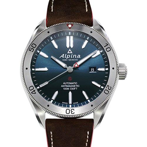 アルピナ/Alpina/腕時計/ALPINER AUTOMATIC 4  /メンズ/スイスメイド/AL-525NS5AQ6/ブルー×ブラウン