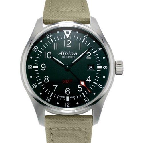 アルピナ/Alpina/腕時計/STARTIMER PILOT/メンズ/スイスメイド/AL-247B4S6/パイロットウォッチ/ブラック×グリーン