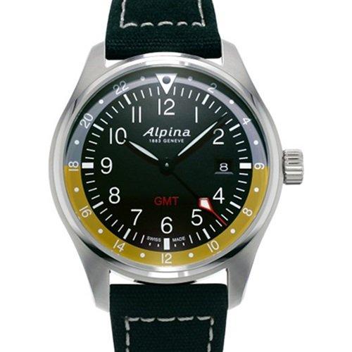 アルピナ/Alpina/腕時計/STARTIMER PILOT GMT/メンズ/スイスメイド/AL-247BBG4S6/パイロットウォッチ/ブラック
