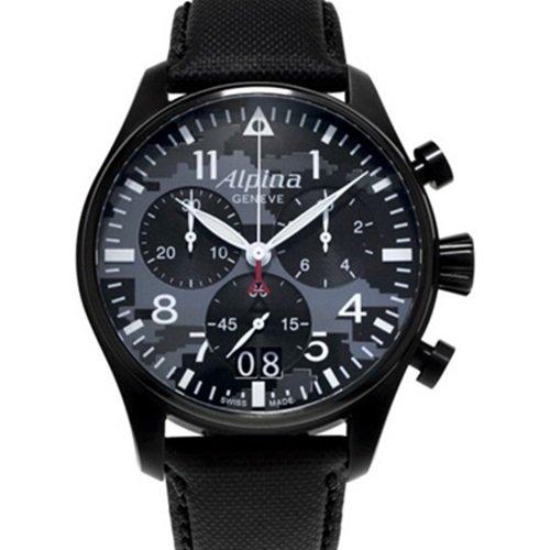 アルピナ/Alpina/腕時計/STARTIMER BIG DATE CHRONOGRAPH /メンズ/スイスメイド/AL-372BMLY4FBS6/ミリタリーパイロットウォッチ